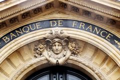 Bank van het beleid van de het hoofdkwartierrentevoet van Frankrijk Parijs Stock Fotografie