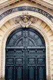 Bank van het Hoofdkwartier van Frankrijk in het monetaire beleid van Parijs stock afbeeldingen
