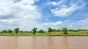Bank van het Meer van het Sap Tonle in Kambodja Royalty-vrije Stock Fotografie