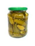 Bank van komkommers. Stock Foto's