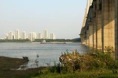 Bank van rivier Yangtze royalty-vrije stock foto's