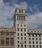 Bank van Spanje in Barcelona royalty-vrije stock afbeelding