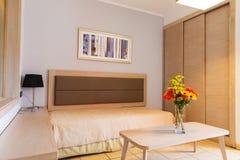 Bank van weefsel in moderne woonkamer royalty-vrije stock afbeeldingen