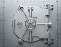 Bank Vault. Closed. Computer generated image. For security issues vector illustration