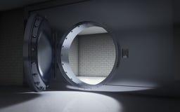 Bank Vault. Door open background Stock Image