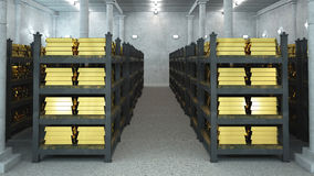 Bank vault. With gold bars Stock Image