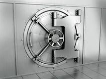 Bank vault. 3d rendering of a bank vault Stock Photos