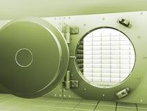 Bank vault. 3D render of an open bank vault Stock Image