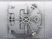 Bank vault. 3D render of closed bank vault Stock Photo