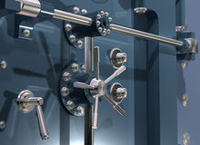 Bank Vault Close up Stock Images