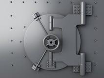 Bank vault closed. Bank Safe, security concept. Image of Bank vault closed. Bank Safe, security concept on white background. 3d illustration Stock Image