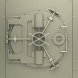 The bank vault. 3d generated picture of a bank vault vector illustration
