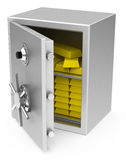 The bank vault. 3d generated picture of a bank vault on a white floor Royalty Free Stock Images