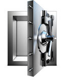 Bank vault. 3D rendering of a bank vault Royalty Free Stock Image