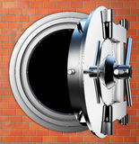 Bank vault. 3D rendering of a bank vault Royalty Free Stock Images