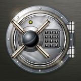 Bank vault on dark Royalty Free Stock Photo
