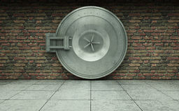 Bank vault door Stock Photo