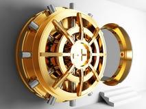 Bank vault door 3d. Bank golden vault door 3d Royalty Free Stock Photos