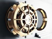 Bank vault door 3d. Bank golden vault door 3d Stock Photography