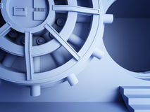 Bank vault door 3d Stock Images