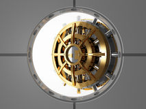 Bank vault door 3d Stock Image