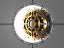 Bank vault door 3d. View from safety room Stock Image