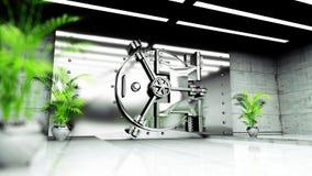 Bank Vault Door. Bank interior. business concept. 3d rendering Royalty Free Stock Photography