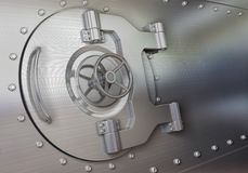 Bank vault door. 3D render Royalty Free Stock Photo