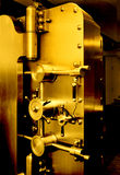 BANK VAULT DOOR GOLD SAVING RETIREMENT FINANCIAL PLANNING WEALTH MANAGEMENT INVESTMENT FUND CAPITAL GROWTH STOCK Stock Photo