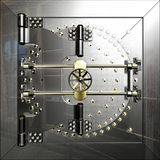 Bank vault door Stock Photography