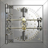 Bank vault door Royalty Free Stock Photos