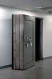 Bank Vault Door. Safe in stainless steel. Stock Photos