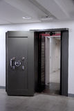 Bank Vault Door. Safe in stainless steel. Royalty Free Stock Photography