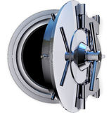 Bank vault. High resolution rendering of a bank vault Royalty Free Stock Images