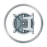 Bank vault icon in cartoon style isolated on white background. Money and finance symbol  Royalty Free Stock Images