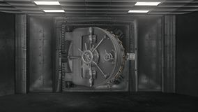 Bank vault and opening safe with alpha chanel