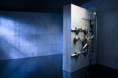Bank Vault photo with copy space royalty free stock photography
