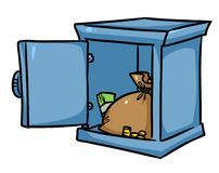 Bank vault Safe money cartoon Stock Photos