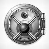 Bank vault on white Royalty Free Stock Images