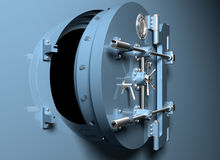 Bank Vault With Round Door Royalty Free Stock Photography