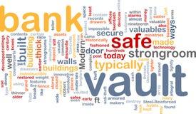 Bank vault word cloud Stock Photo