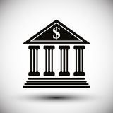 Bank vector icon. Royalty Free Stock Photography