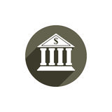 Bank vector icon isolated. Stock Image