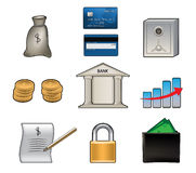 Bank vector icons Royalty Free Stock Photography