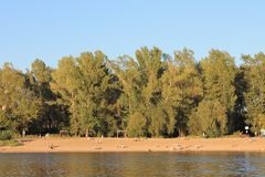 The Bank of the Visla river in Warsaw stock photography