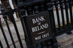 Bank von Iren lizenzfreies stockfoto