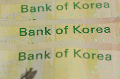 Bank von Korea Stockfotografie
