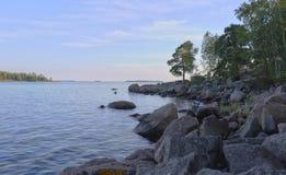 Bank von See, Finnland lizenzfreies stockbild