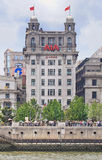 Bank von Taiwan-Gebäude, Shanghai, China stockfotografie
