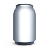 Bank voor bier, soda zonder etiket voor ontwerp Royalty-vrije Stock Afbeelding